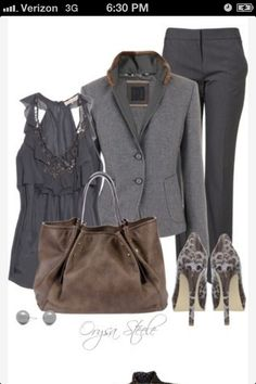 Grey professional outfit