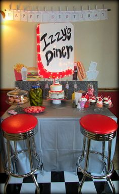 1950's Diner Birthday Party www.samantha-sweets.com