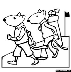 gerbil golf coloring page