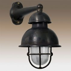 Scheepslamp in antiek zwarte kleur