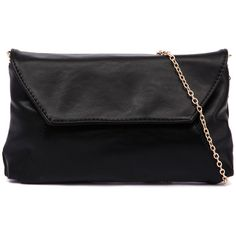 I Love Billy 9363 Black Clutch (1,575 THB) ❤ liked on Polyvore featuring bags, handbags, clutches, envelope clutch, black envelope clutch, fold over purse, party clutches and envelope clutch bag