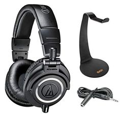 ea59f40c492 Audio-Technica ATH-M70x Pro Monitor Headphones with Headphone Stand &  Extension Cable