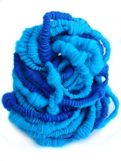 Tricotin.com : How to make a coiled yarn