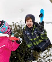 Snowball Thrower - For kids who have mastered the art of throwing yet.