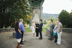 Real Weddings: Michelle and Ben's Portland Elopement in Cathedral Park under the St. John's Bridge with their 6 guests