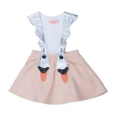 Bang Bang Copenhagen Bird Girl - the cutest little swam pinny with silver swan straps. Silver Swan, Girls Dresses, Summer Dresses, No Frills, Kids Fashion, Bird, Skirts, Stuff To Buy, Shopping