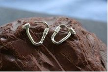 Climbing Locking Carabiner Earrings made from Sterling Silver Double Tongue Piercing, Double Cartilage Piercing, Dermal Piercing, Tongue Rings, Peircings, Tongue Piercings, Cartilage Piercings, Nose Rings, Climbing Earrings