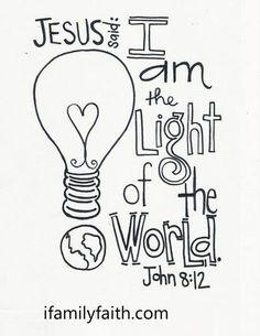 JESUS is the Light of the World. amen. ifamilyfaith.com
