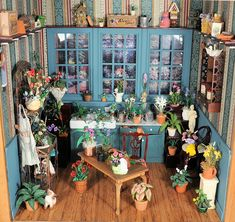 Dollhouse gardening Room