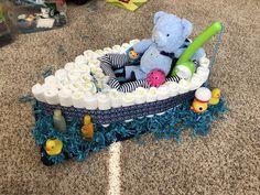 Diaper Boat Boy Baby Shower Baby Shower Camo, Diaper Shower, Baby Shower Cakes For Boys, Baby Boy Cakes, Baby Shower Decorations For Boys, Baby Shower Diapers, Baby Boy Gifts, Baby Shower Gifts, Boat Diaper Cake