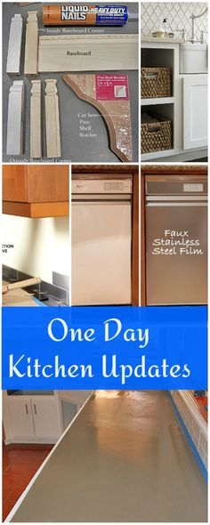 One Day Kitchen Updates • Ideas and tutorials!