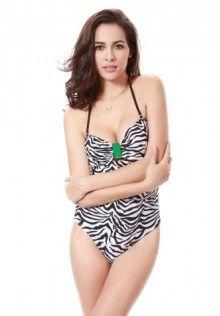 cde23a8e2f2 Zebra Printed Halter Cut Out Monokini Swimwear 2015, Bikini Swimwear, One  Piece Swimwear,