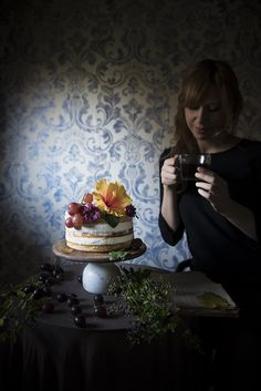 Naked carrot cake · Frames of sugar - Fotogrammi di zucchero