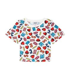 2833c0041cb7 Children  Tops Moschino Alphabet and LoveHeart PrintT-Shirt New Trends