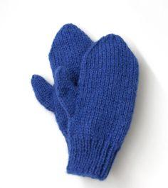 Free Knitting Pattern 80673B Easy-Knit Mittens : Lion Brand Yarn Company