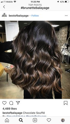 Brown Hair Balayage, Balayage Brunette, Brunette Hair, Hair Highlights, Hair 2018, Smooth Hair, Gorgeous Hair, Beautiful, Hair Looks