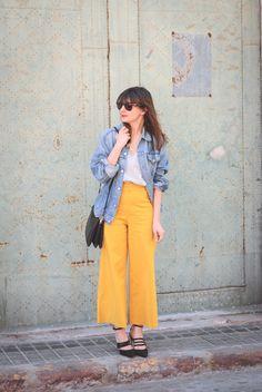 #culotte #pants #look #streetstyle #fashion #zara #levis