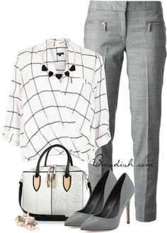 Simple Style for a Gorgeous Look : 31 Casual Work Outfits Polyvore Ideas - Be Modish - Be Modish #casualworkoutfit #casualhandbag