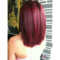 Violet | RED hair color...
