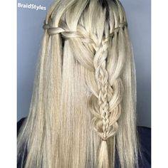 ترکیب بافت فرانسوی آبشاری -بافت تیغ ماهی-بافت گندمی Chignon Hair, Dreadlocks, Hair Styles, Beauty, Fashion, Hair Plait Styles, Moda, Fashion Styles, Hair Makeup