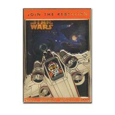 2014 Star Wars Weekends Rebel Rendezvous X-Wing Fighter Mickey Mouse Logo Pin #disneystarwarsweekends