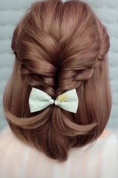 Easy Hairstyles For Long Hair, Elegant Hairstyles, Braided Hairstyles, Hairstyle Ideas, School Hairstyles, Simple Hairdos, Indian Hairstyles, Wedding Hairstyles, Scrunchy Hairstyles