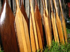 Beautiful Algonquin hand crafted canoe paddles