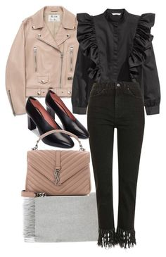 """""""Untitled #11302"""" by minimalmanhattan ❤ liked on Polyvore featuring Acne Studios, Topshop and Yves Saint Laurent"""