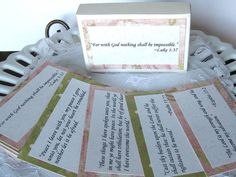Bible Scripture Cards Hope Memory Verse Cards by BellaBoutique23 #castteam