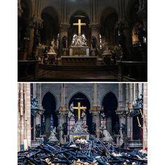 Előtte-utána képek a Notre-Dame-ból a hétfői tűzvész után. A katedrálisban tárolt műkincseket, ereklyéket sikerült megmenteni, ahogy az…
