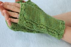 True Love Knit Fingerless Gloves  5 or 3.75 mm, 7 or 4.5 mm Yarn Weight: (4) Medium Weight/Worsted Weight