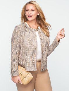 Talbots - Sparkle Tweed Jacket