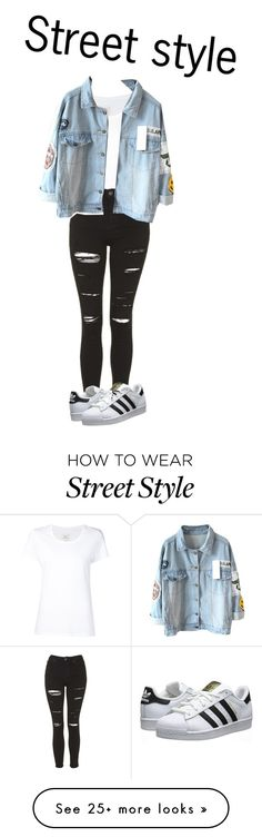 """Street style"" by glamdede on Polyvore featuring Max 'n Chester, Topshop and adidas Originals"