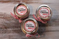 Salted Caramel Sauce Gift Recipe and Tutorial with free printable labels.... Looks awesome!