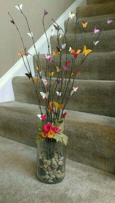 Gardens Discover Craft Spring Flowers Centerpieces 36 Ideas For 2019 Butterfly Crafts Flower Crafts Butterfly Tree Butterflies Butterfly Wall Art Home Crafts Crafts For Kids Diy Crafts Mothers Day Crafts Butterfly Crafts, Flower Crafts, Diy Flowers, Paper Flowers, Flowers Vase, Butterfly Centerpieces, Centerpiece Ideas, Wedding Centerpieces, Wedding Flowers
