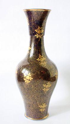 Old Paris Porcelain Vase Blue And Gold Design on Etsy, $113.75