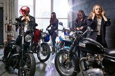 Anvil or Hammer Female Motorcycle Riders, Cafe Racer Girl, Lady Biker, Badass Women, Sport Bikes, Brooklyn, Scene, Motorcycles