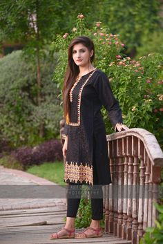 We bring to you.. 100% Cotton with Fine embroidery  Available Sizes: Medium(standard)  PKR: 1199/- Only Delivery time: 2 days Extra: Delivery charges Limited stock,inbox or call us..!