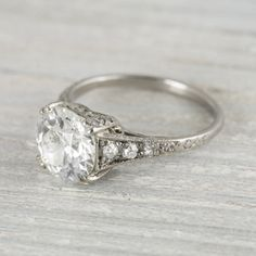 Love the simplicity and setting of the main diamond as well as the band detail leading up to the main setting.