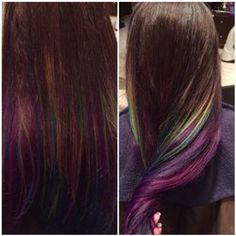 Tangled Art - Fremont, CA, United States. Oil Slick Hair Color, Tangle Art, Tangled, Hair Makeup, Hair Beauty, Hair Colors, Hair Styles, How To Make, United States