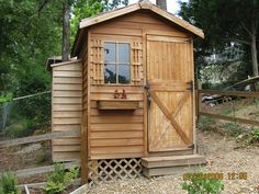 gardener shed with small lean-to on the side  cedarshed.com