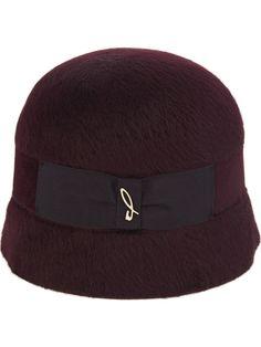 Cloche hat burgundy for Women Doria 1905