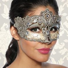Venetian Cindio High-Quality Vintage-Mask for A carnival or fancy Dress-Antique-Style with Satin Band for Women Sexy Stocking, Mask Tattoo, Venetian Masks, Festival Makeup, Masks Art, General Crafts, Masquerade Ball, Fancy Dress, Fascinator