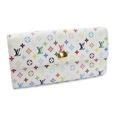 Louis Vuitton Porte Feuilles Sarah Monogram Multicolore Wallets White Canvas M93744