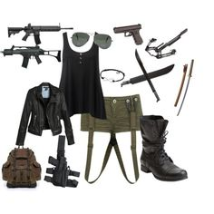 Read Zombie apocalypse outfits from the story Outfits by dontstopreadingxox (Demons Queen) with 931 reads. Zombie Apocalypse Outfit, Apocalypse Fashion, Zombie Squad, Apocalypse Survival, Spy Outfit, Badass Outfit, Bad Girl Outfits, Teen Fashion Outfits, Walking Dead Clothes