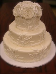 3-Tier White Lace