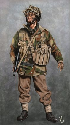 WW2 British paratrooper by sandu61