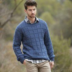 Mens Knit Sweater Pattern, Knit Sweater Outfit, Sweatshirt Outfit, Sweater Knitting Patterns, Knitting Designs, Men Sweater, Winter Wear, Pulls, Mens Fashion