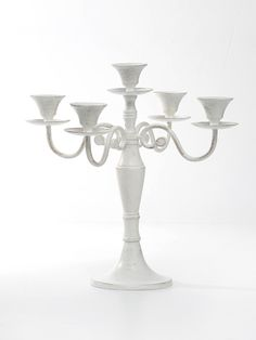 Venus Candlelabra With 5 Arms Antique White