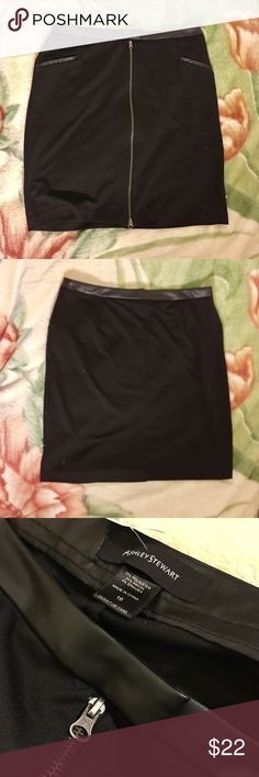 *Ashley Stewart* Pencil Skirt in Leather Black Excellent Condition Ladies Size 16 Zipper Front Two Pockets   Just selling dresses and things from my neighbor who donated clothes, feel free to make an offer!   #ashleystewartskirt #ashleystewart #blackskirt #blackpencilskirt #dressy #classy #formalwear  #elegant #blackskirt #sizexlskirt Ashley Stewart Skirts Pencil